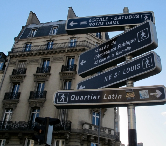 signs, paris intersection